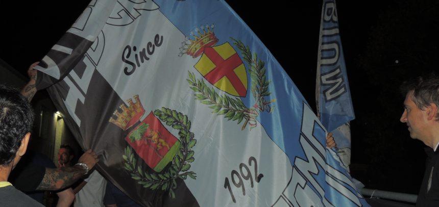 [FOTOTIFO] Gli Ultras dell'Albenga e della Sanremese celebrano i ventiquattro anni di gemellaggio