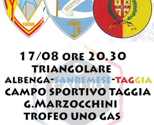 Triangolare Taggia – Sanremese – Albenga segui in diretta…