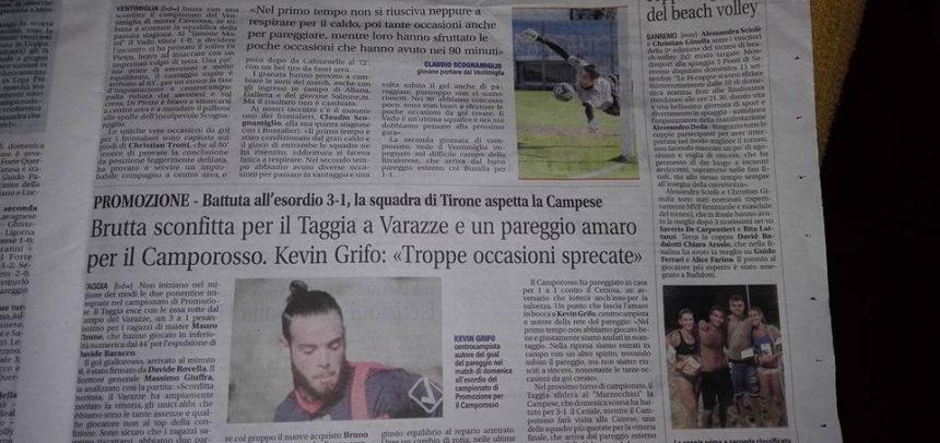 Calcio Flash Ponente collabora con La Riviera!!!