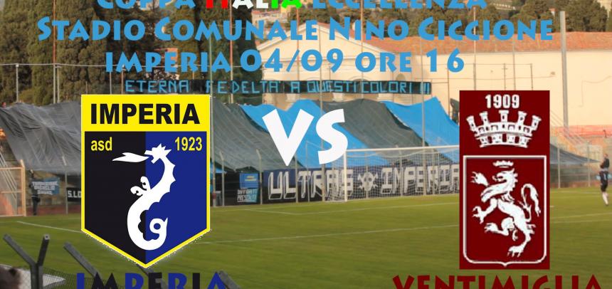 [Coppa Italia Eccellenza] Imperia – Ventimiglia ore 16.00