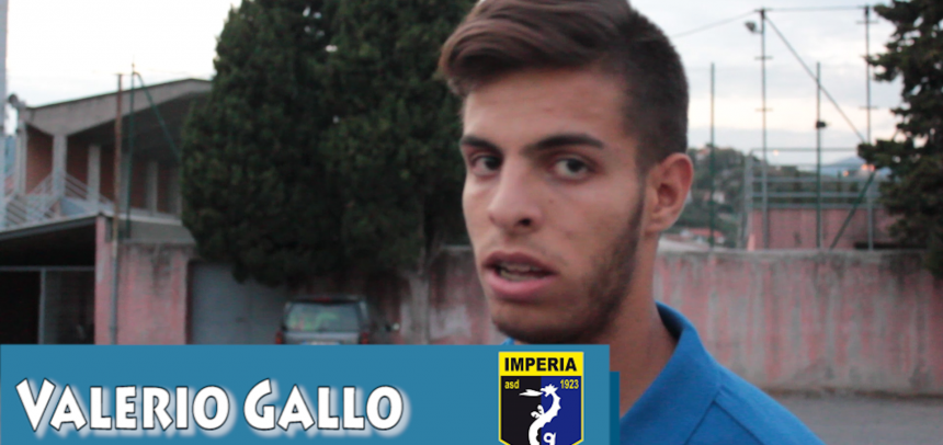 [Coppa Italia] Intervista a Valerio Gallo [Imperia]