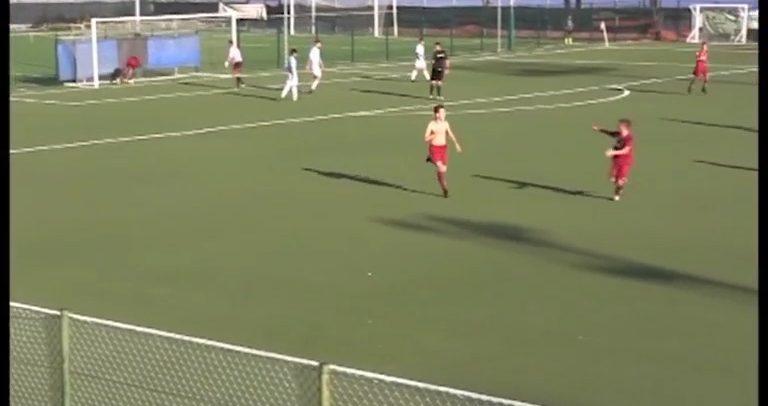 CALCIO GIOVANILE. Il bellissimo gol di Gabriele Garofletti, dribbling ubriacante e palla morbida nell'angolino