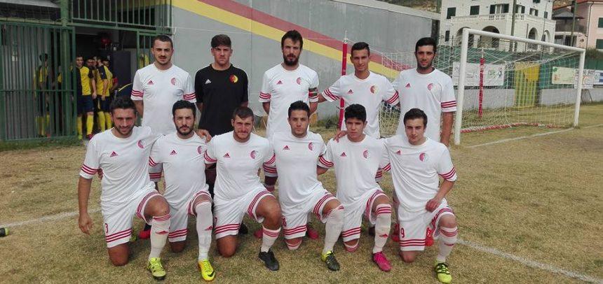 TAGGIA. I gol di Paolo Tarantola e Alex De Flaviis nel 2-0 contro il Borzoli
