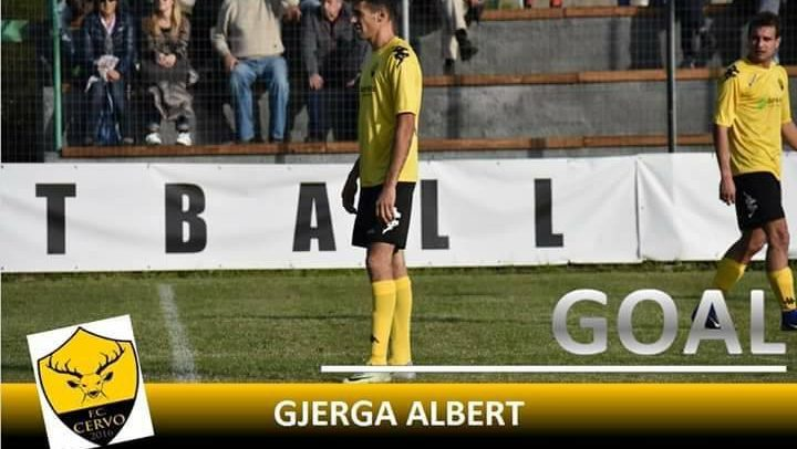 """FC CERVO. Albert Gjerga segna una doppietta contro il Sanremo80:""""Dedico i gol a mio fratello e alla squadra"""""""