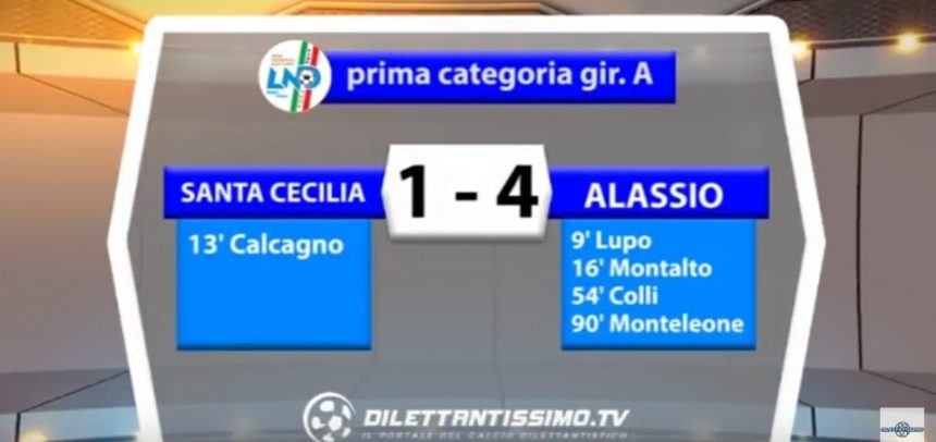 [Prima Categoria] Santa Cecilia 1 Alassio F.C. 4 sintesi video by Dilettantissimo