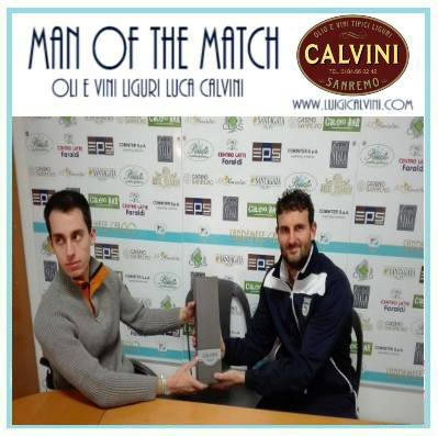 E' il capitano Luca Fiuzzi il Man of the Match di Sanremese-Jolly Montemurlo 3-0
