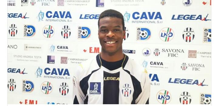 Savona, ufficiale l'arrivo di Kalvin Lumbombo in prestito dal Carpi