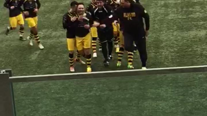 [Video] Alassio FC, lo strepitoso gol su punizione di Piazza nel derby con la Baia Alassio