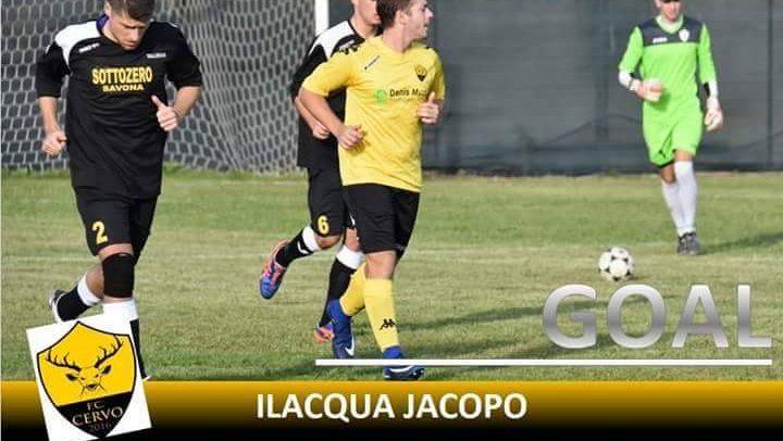 """Cervo FC, Jacopo Ilacqua a segno nel 3-0 contro il San Filippo Neri:""""Gol dedicato a tutta la squadra"""""""