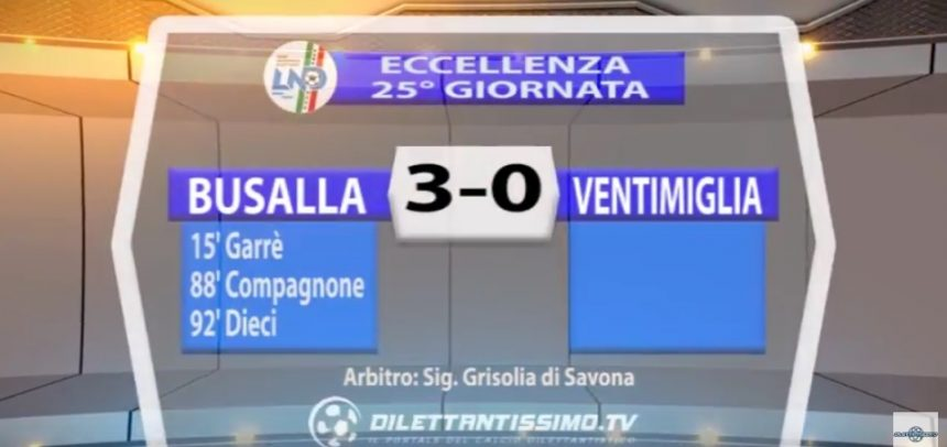 [Eccellenza Liguria] Busalla 3 Ventimiglia 0 sintesi video by Dilettantissimo.tv