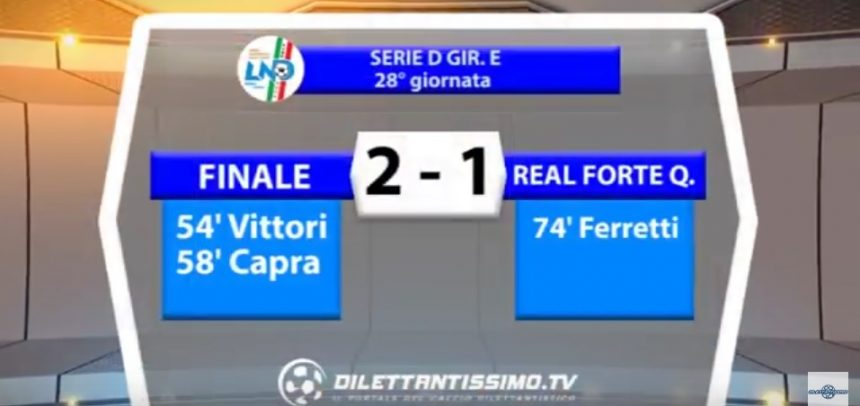[Serie D] Finale 2 Real Forte Querceta 1 sintesi video by Dilettantissimo.tv