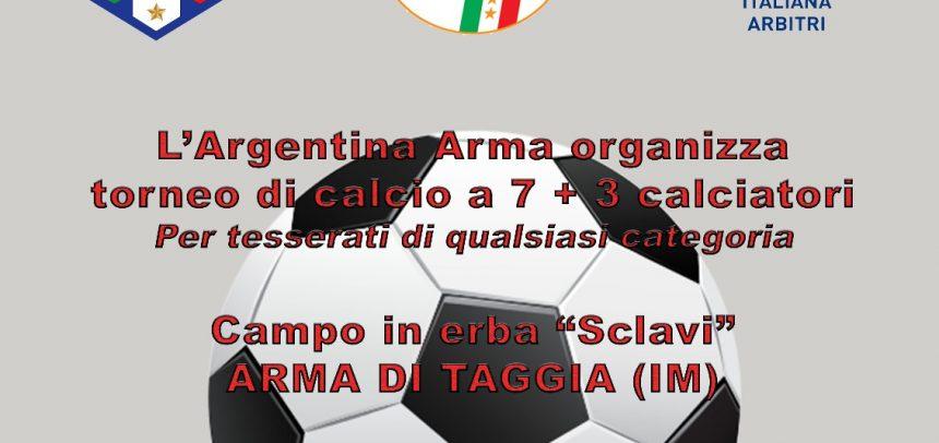 """L'Argentina Arma organizza il torneo di calcio a 7 al campo """"Ezio Sclavi"""" dal 26 maggio al 10 giugno"""