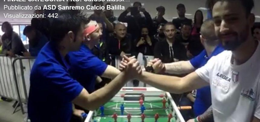 ASD Calciobalilla Sanremo, il video della partita finale Categoria Pro della Sanremo Cup