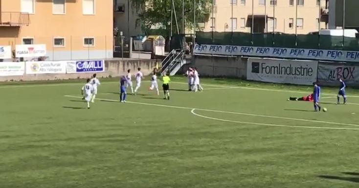 Il video del bellissimo goal di Francesco Pellicanò contro il Trento al Torneo delle Regioni