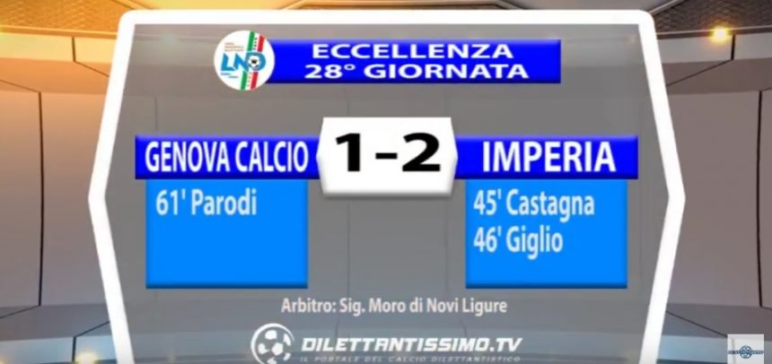 [Eccellenza Liguria] Genova Calcio 1 Imperia 2 sintesi video by Dilettantissimo.tv