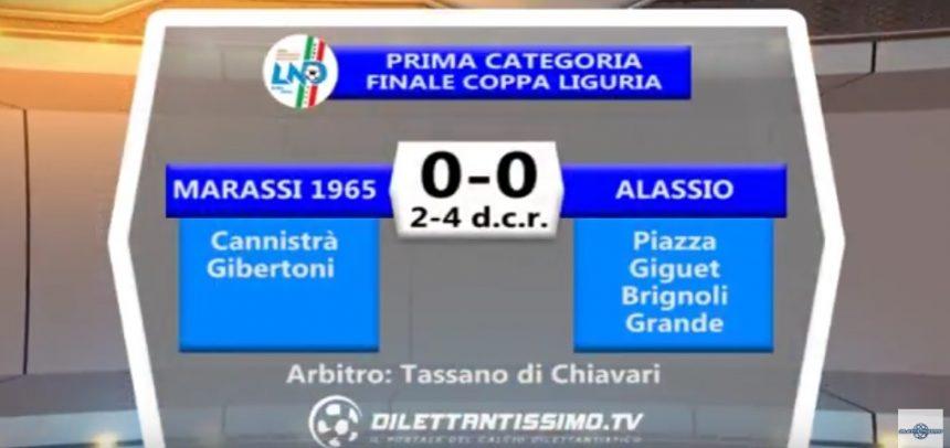 Finale Coppa Liguria Prima Categoria, Marassi 1965 vs Alassio F.C. sintesi video by Dilettantissimo.tv