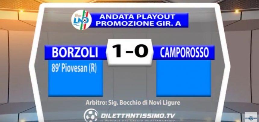 Promozione, Borzoli 1 Camporosso 0 sintesi video by Dilettantissimo.tv