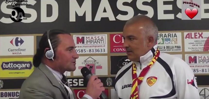 """Finale, intervista by Quotidiano Apuano a Pietro Buttu nel post partita tra Massese 2 Finale 1: """"Questa squadra ha disputato un campionato strepitoso"""""""