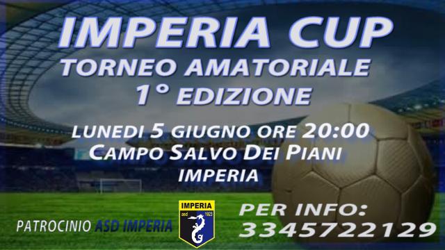 Imperia Cup 1° edizione torneo amatoriale, info e regolamento