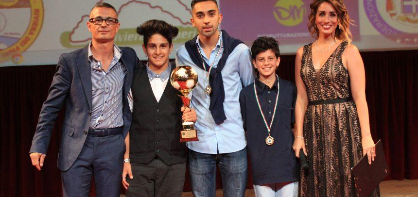Michael Roldan Pallone d'oro del WEb, 2° Vincenzo Paterno e 3° Salvatore D'Abrosca