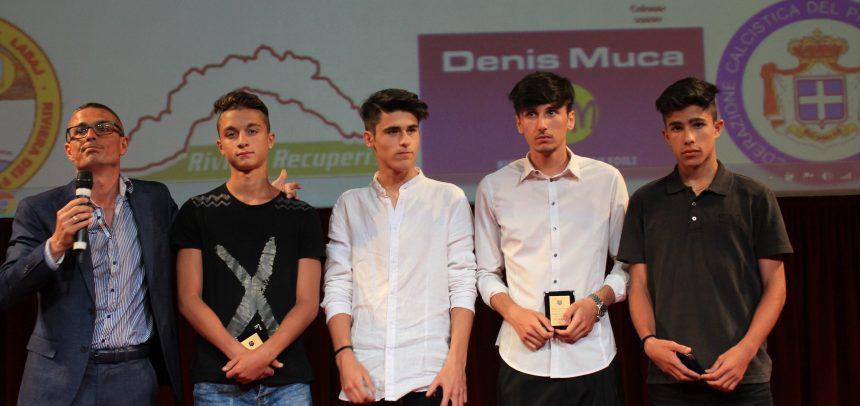 Luca Cafà premiato come bomber degli Allievi Provinciali
