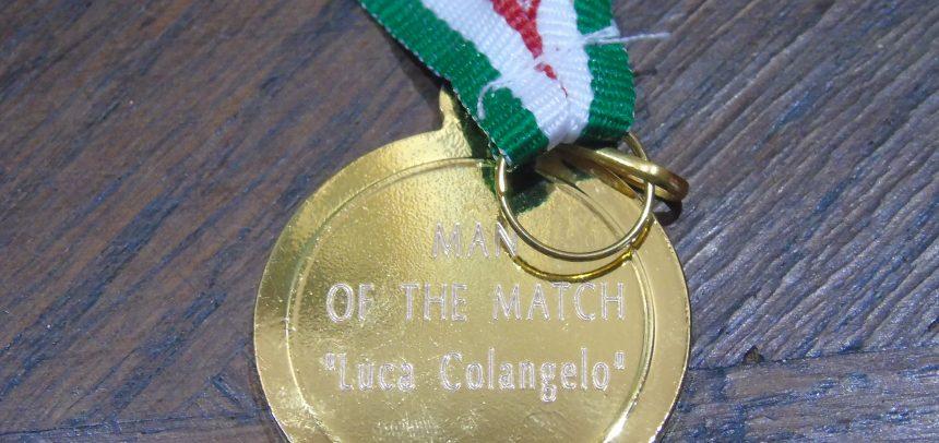 """Tutti i premi """"Man of the Match"""" intitolati a Luca Colangelo"""