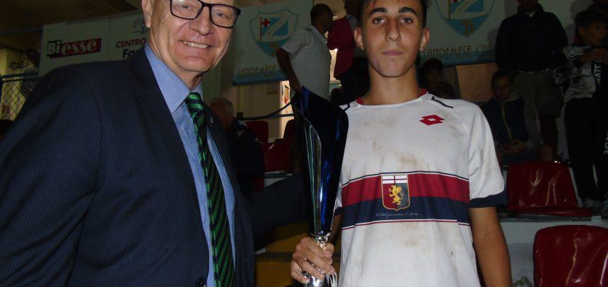 Torneo Internazionale Carlin's Boys, premio fair play a Cristian Fossati del Genoa