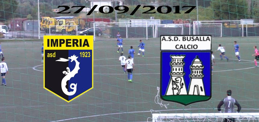 ASD Imperia cat Giovanissimi 2003, Imperia 2 Busalla 3 sintesi video