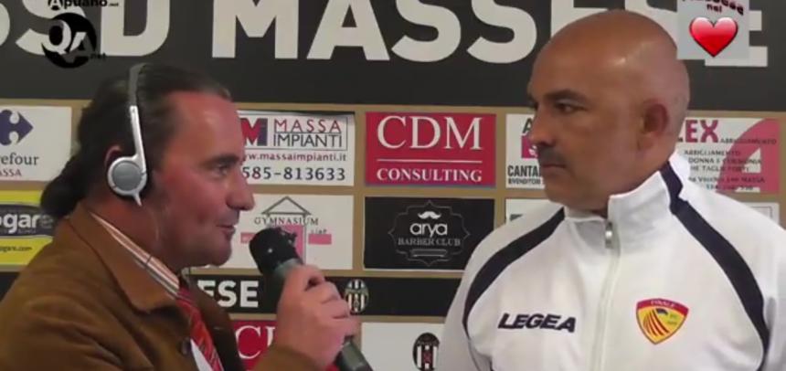 """Finale, mister Pietro Buttu commenta la sconfitta con la Massese:""""Avremmo meritato il pareggio"""""""