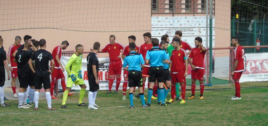 Promozione, il Taggia batte il Pallare 3-1 con la doppietta di Pesco e il gol di Giorgio Brizio