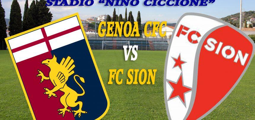 Genoa CFC vs Sion FC, prevendita presso la sede della ASD Imperia