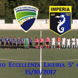 Eccellenza Liguria, Valdivara 3 Imperia 3, sintesi video
