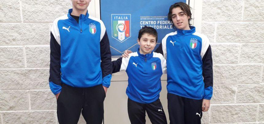 Sanremese Calcio – I classe 2005 Domenico Moro, Gabriele Pavone e Flavio Marra si alleneranno al Centro Federale Territoriale