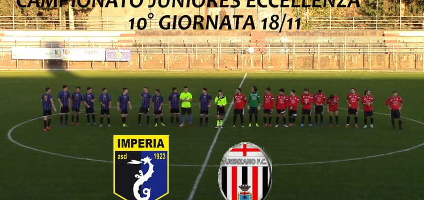 Juniores Eccellenza, Imperia 4 Arenzano 0 sintesi video + interviste