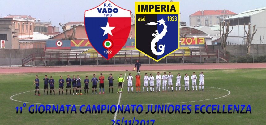 Juniores Eccellenza, Vado 2 Imperia 4 video sintesi