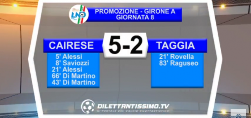 Promozione A, gli Highlights di Cairese-Taggia 5-2 by Dilettantissimo
