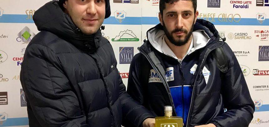"""Alessio Cargiolli è il """"Man of the Match Convivio"""" di Sanremese-Albissola 1-3"""