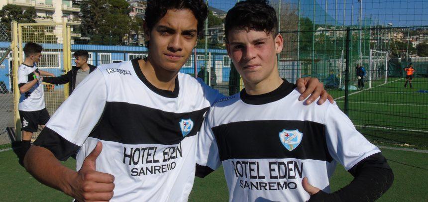 Allievi Regionali Fascia B, Francesco Pellicanò e Manuel Buccino sono i Men of the Match di Sanremese-Ospedaletti 2-0