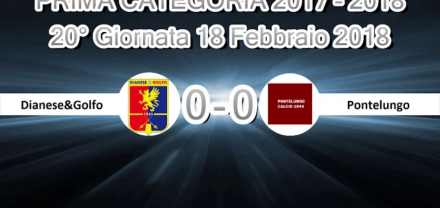 Prima Categoria A, gli Highlights di Dianese&Golfo-Pontelungo 0-0