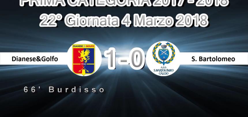 Prima Categoria A, gli Highlights di Dianese&Golfo-San Bartolomeo 1-0