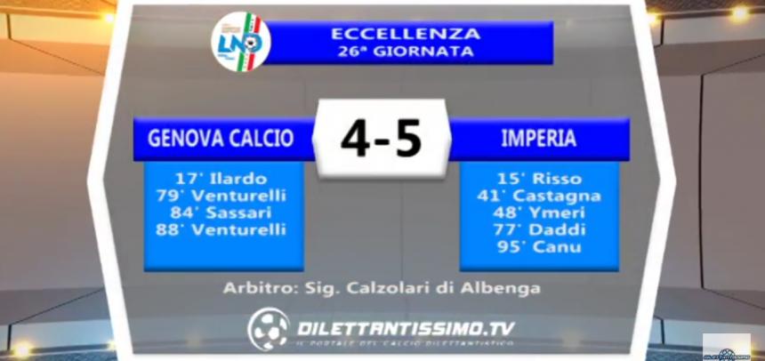 Eccellenza, gli Highlights di Genova Calcio-Imperia 4-5 by Dilettantissimo