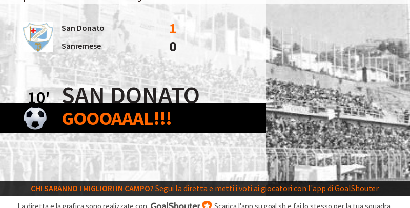 LIVE – San Donato Tavarnelle-Sanremese 1-0: gol di Frosali al 10′