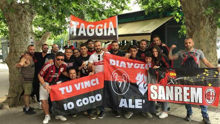 Il Milan Club Taggia Arma in trasferta a Roma per la finale di Coppa Italia