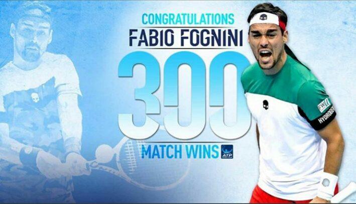 Fabio Fognini domina Monfils e festeggia le 300 vittorie nel circuito ATP