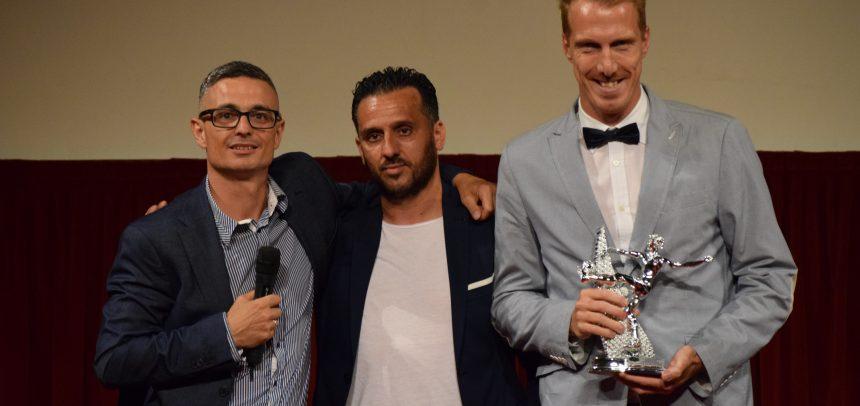 Giuseppe Cacciatore premiato come miglior difensore del ponente 2017-18