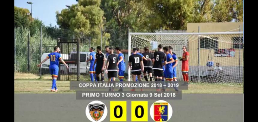 Coppa Italia Promozione, gli Highlights di Ospedaletti-Dianese&Golfo 0-0