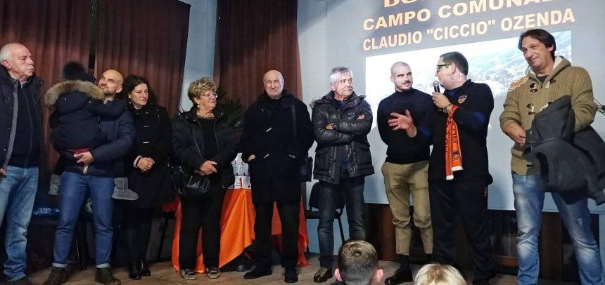"""Festa Orange con sorpresa: il nuovo campo dell'Ospedaletti intitolato a """"Ciccio"""" Ozenda"""