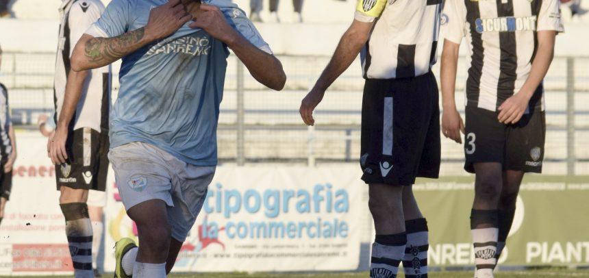 Sanremese-Pro Dronero 1-0: gol di Molino