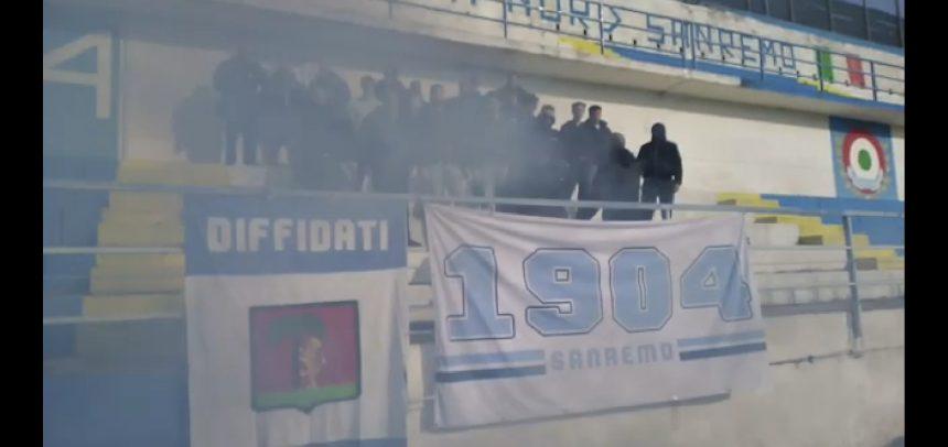 [Video] Sanremese, la Gradinata Nord incita la squadra prima del derby col Savona