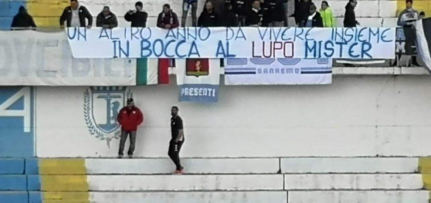 La Gradinata Nord Sanremo d'accordo sulla conferma di mister Alessandro Lupo